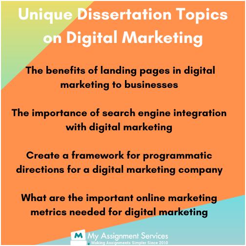 Unique Dissertation Topics on Digital Marketing
