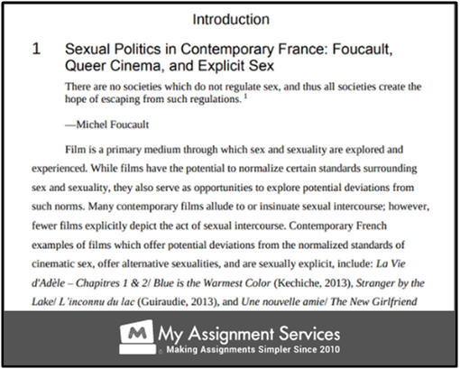 introduction of the film dissertation