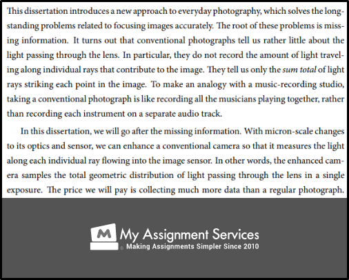 photography dissertation topic