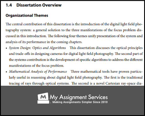 dissertation overview