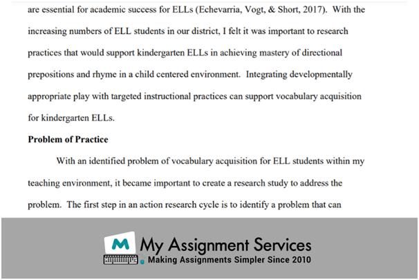 Primary Education Dissertation Sample