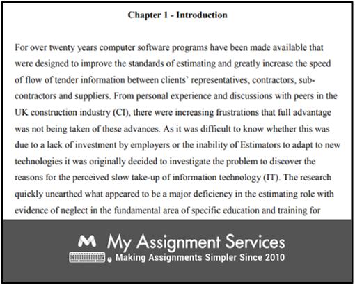 Quantity Surveying Dissertation Topics Sample