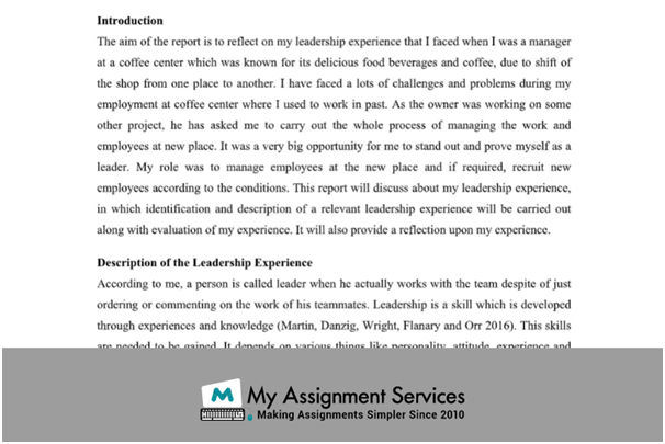 Leadership Assignment Sample
