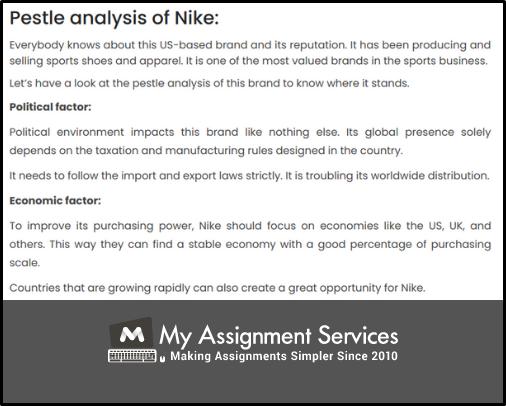 Pestle Analysis of Nike