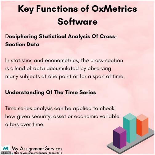 Key Functions of Oxmetrics Software