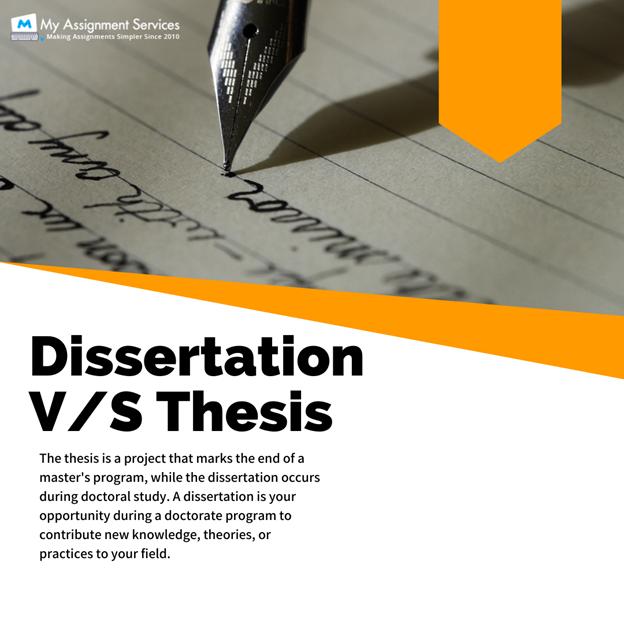 Dissertation vs thesis