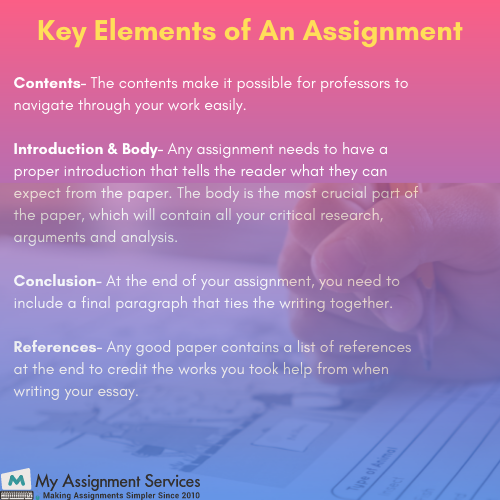 key elements of assignment