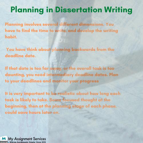 planning in dissertation writing
