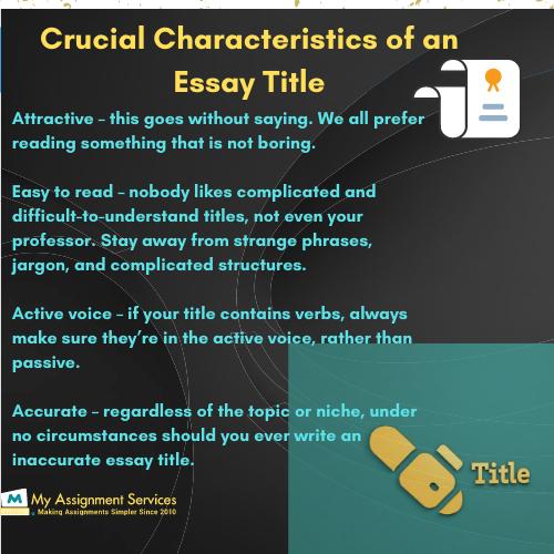 Essay Title Help