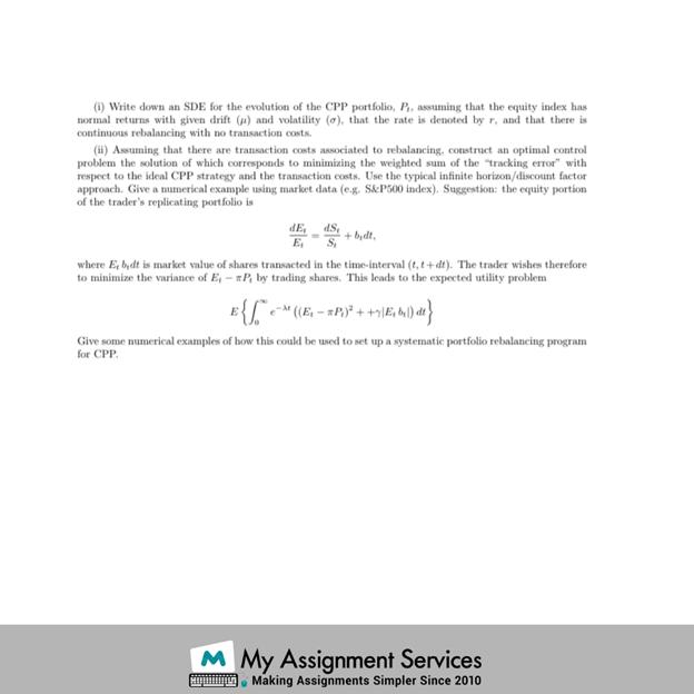 Finance homework sample