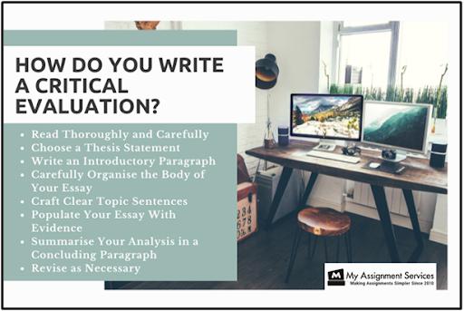 how do you write a critical evaluation