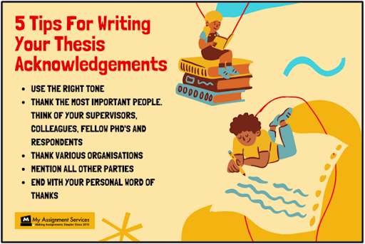 5 tips for writing your thesis acknowledgments