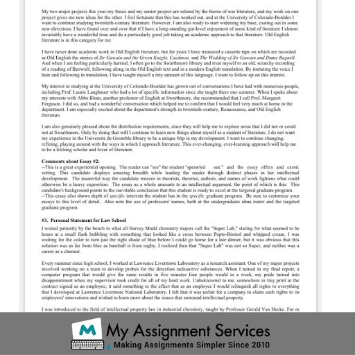 Grad School Essay Sample