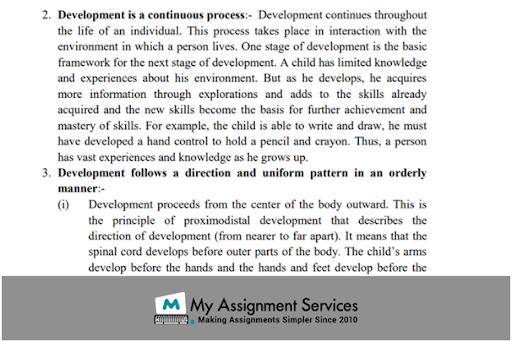 Developmental Psychology Assignment Sample