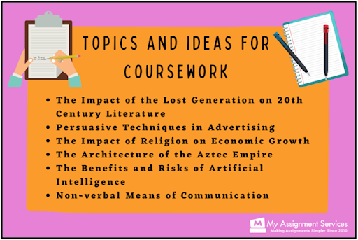 topics and ideas for coursework
