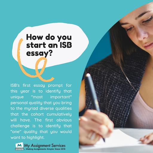 ISB Essay Help