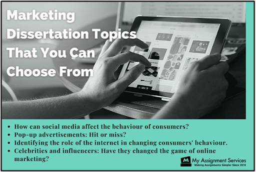 marketing dissertation topics that you can choose