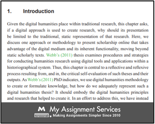 Structure a Thesis in Humanities Sample 2