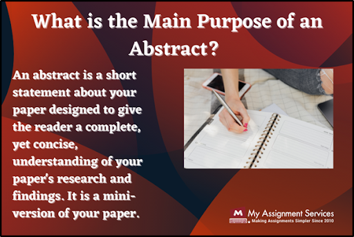what is the main purpose of an abstract