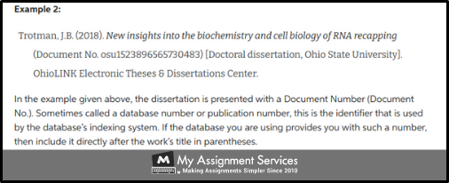 Structure Reference a Dissertation 3