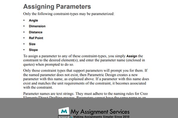 CREO assigning parameters