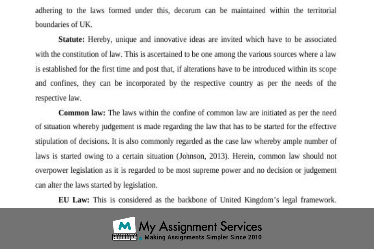 commercial law samples shared by My Assignment Services UK