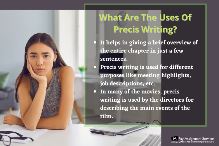 what are the uses of precis writing