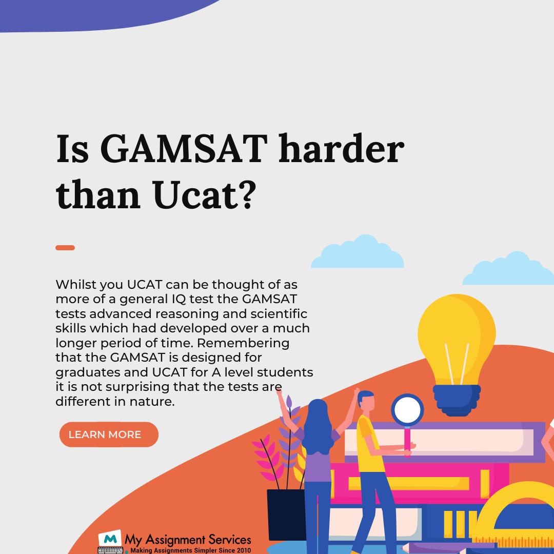 is GAMSAT harder than ucat