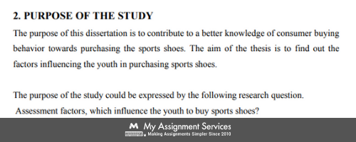 Samples of Consumer Behaviour  Dissertation