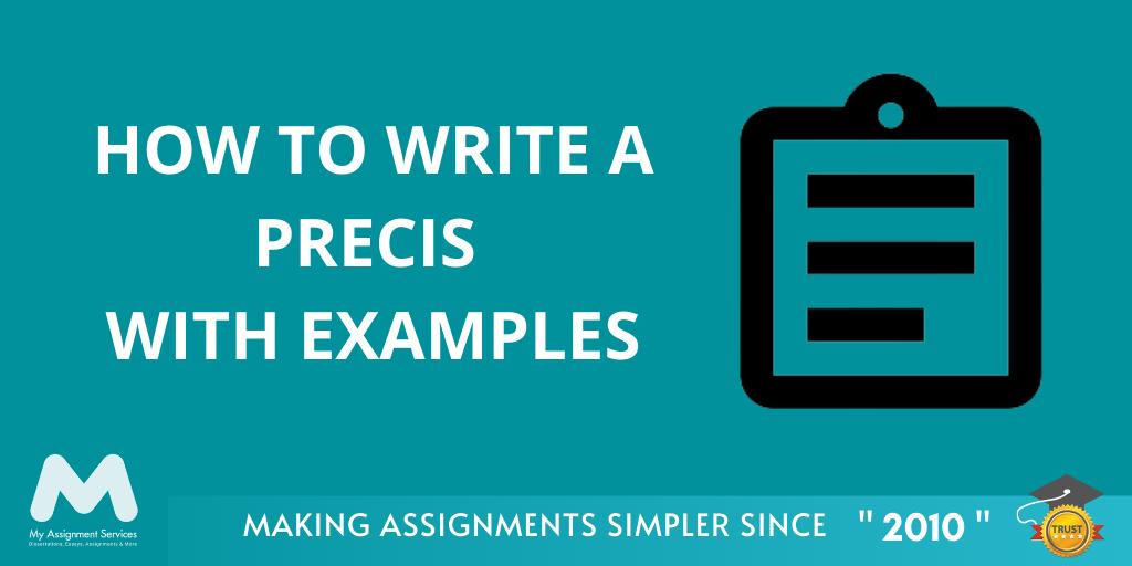 How to Write a Precis With Examples