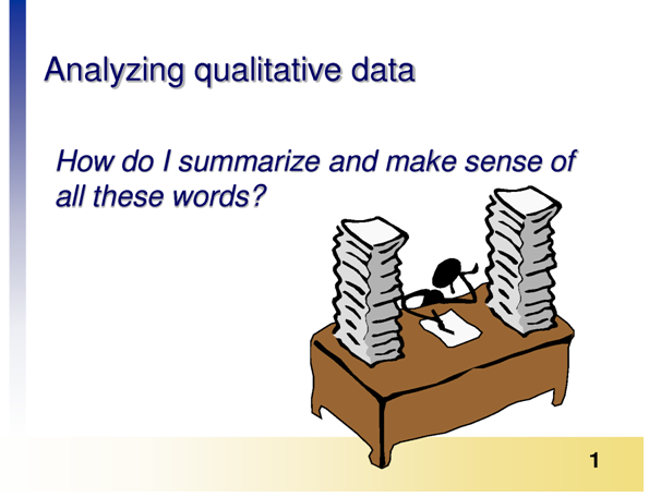 Analyzing Dissertation Data