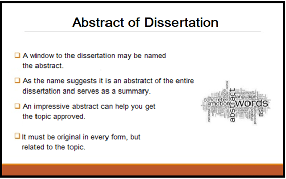 Abstract in a dissertation