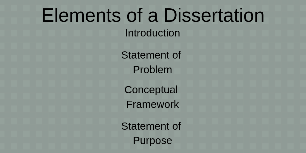 Dissertation Examples