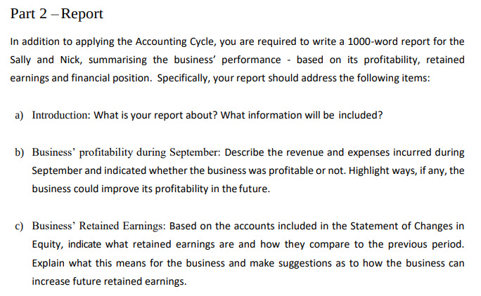 Finance Assignment Sample - Report