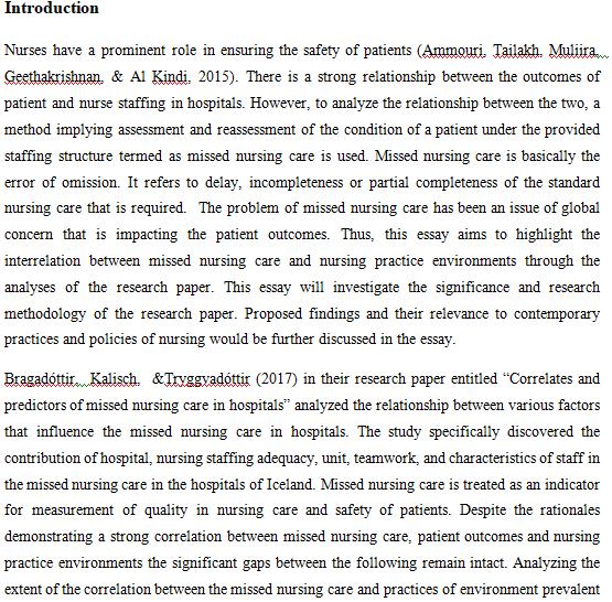 Critical appraisal essay