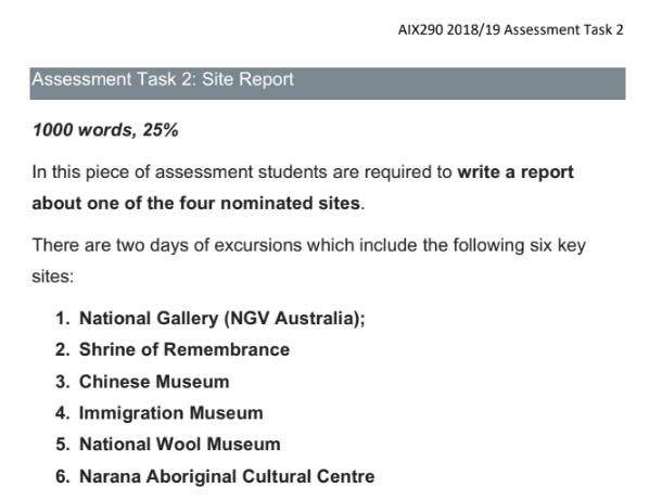 history assessment task 1