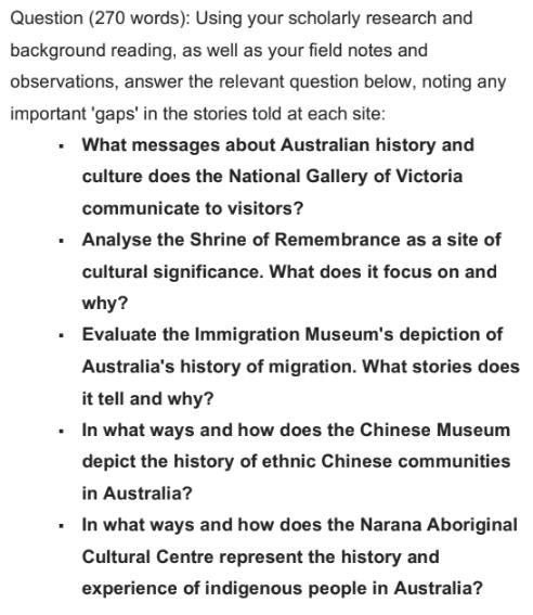 history assessment task 2