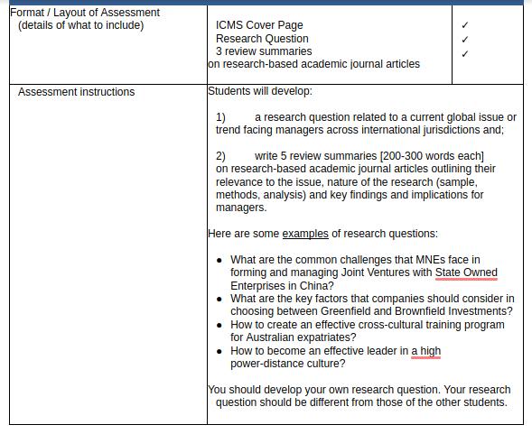 management assessment sample