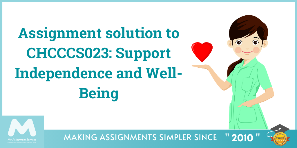 Assignment solution to CHCCCS023 Support Independence and Well-Being