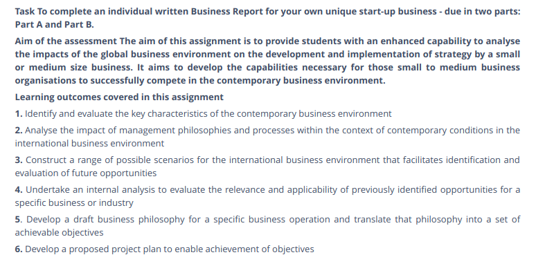Business Assignment Sample