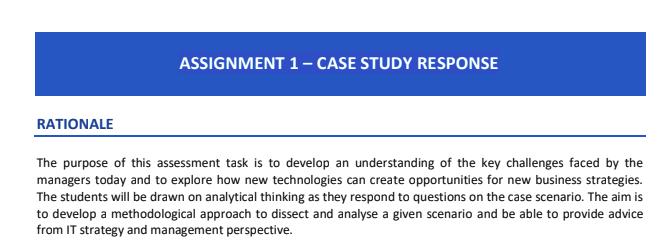 coursework assessment task