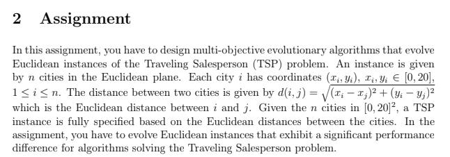 discrete evolutionary multi-objective algorithms for TSP instances