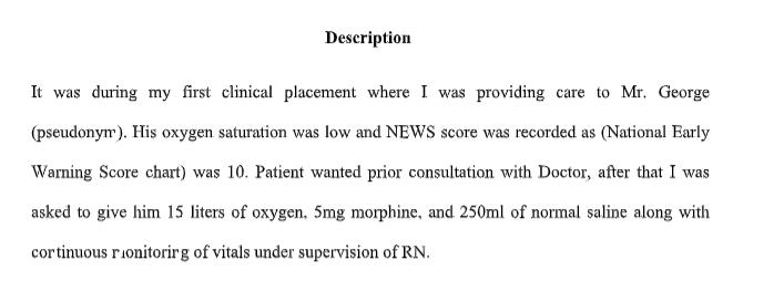 gibbs nursing reflection assignment sample 2