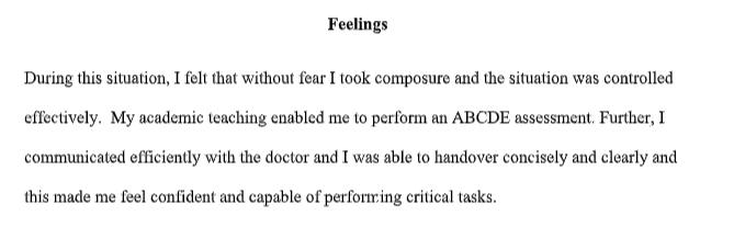 gibbs nursing reflection assignment sample 3