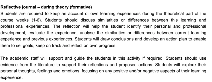 gibbs nursing reflection assignment sample