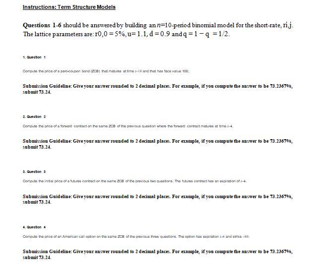 sample of online quiz