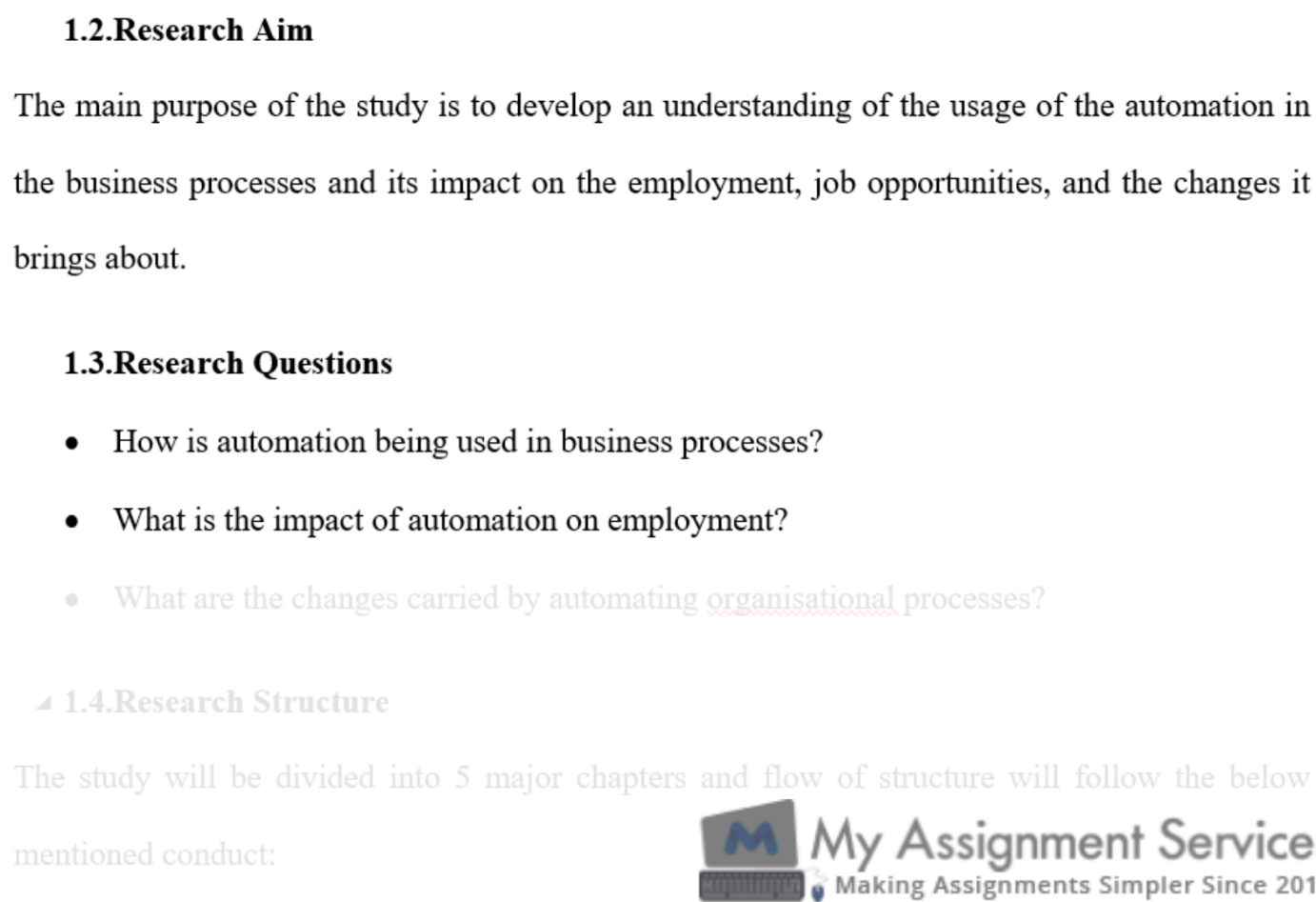 business dissertation assessment solution sample 2