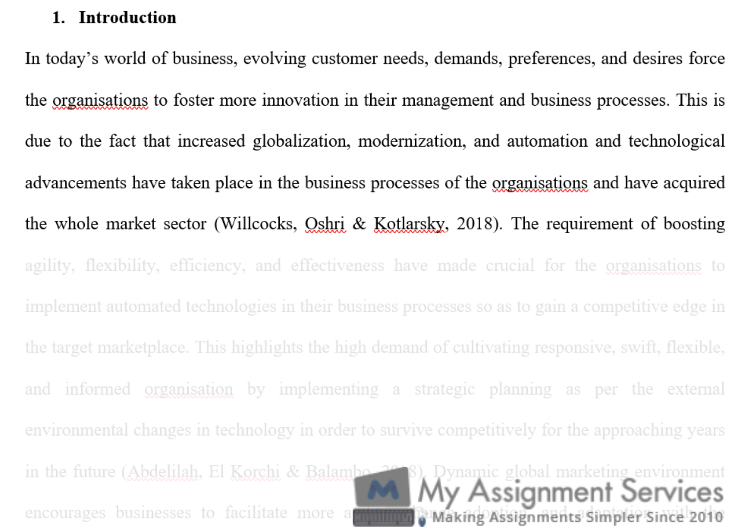 business dissertation assessment solution sample