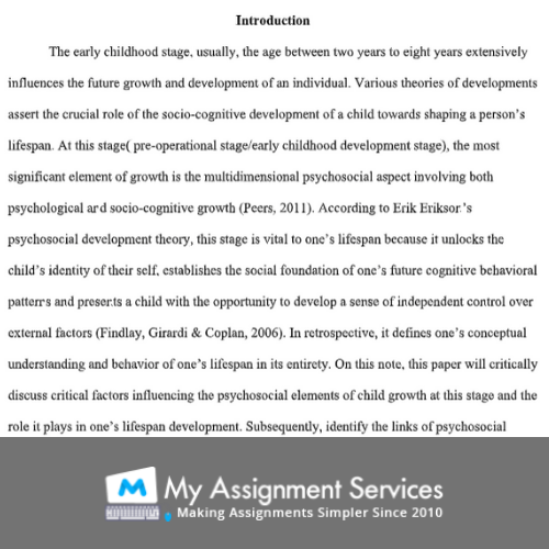 childcare essay assignment sample