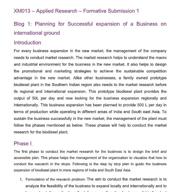 dissertation hypothesis assessment sample
